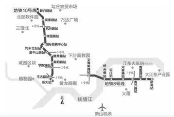 杭州地铁10号线多个站点陆续图片